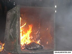 Burning Trash Dumpster