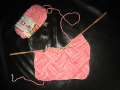 Garterlac Dishcloth WIP