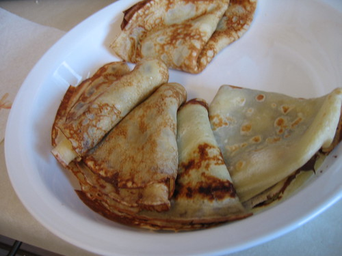 Crepes stuffed with scrumptious Nutella spread or strawberry jam