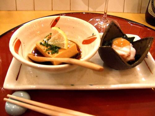 Sugiyama (New York) - Tofu / Monkfish Liver w/ Hakkaido Octopus