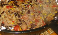 Black Bean and Sausage Casserole