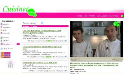 Cuisiner en ligne
