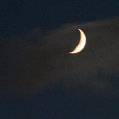 Moon through cloud