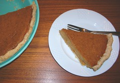 Pumpkin pie in duplicate