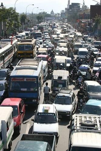 Kathmandu rush-hour!