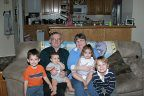 grandparnents and kids Hannahs 3rd bday