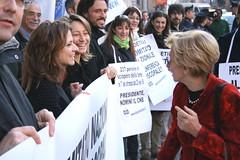 Maria Antonietta durante una manifestazione dell'Associazione Coscioni