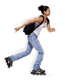 Student skating