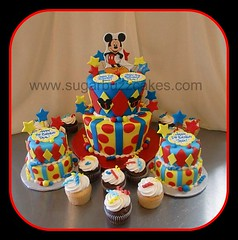 Mickey Mouse Birthday Cake photo by Sugar Buzz Cakes by Carol
