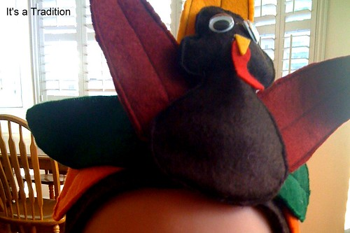 Pottery Barn inspired turkey hat