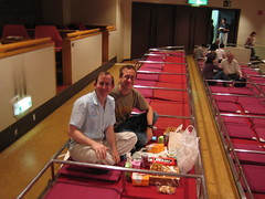Dave and Andy at Sumo Tournament