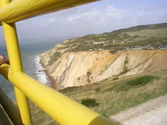 Alum Bay - dig those coloured sands