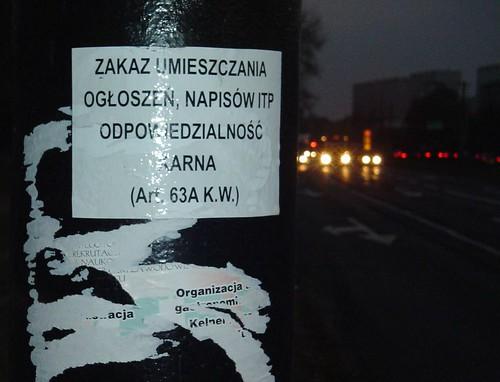 zakaz plakatowania 2
