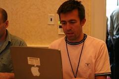 Jesper taking live notes