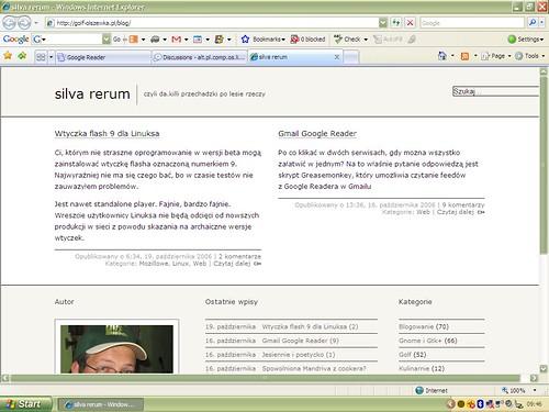 """silva rerum"" w Internet Explorer 7"