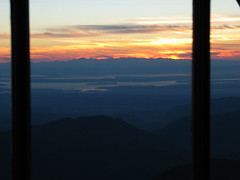 Puget Sound and Olympics from 3 Fingers Lookout at Sunset