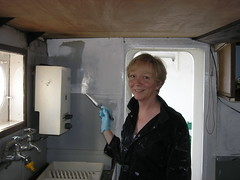 Painting the galley