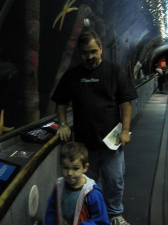 Me in San Francisco at the Aquarium of the Bay 3