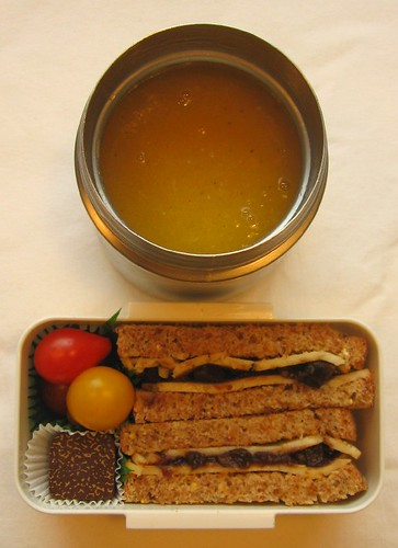 Sandwich & pumpkin soup lunch お弁当