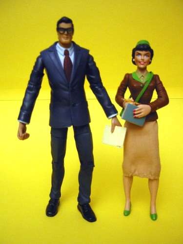 DC Superhero Clark Kent and DC Direct Lois Lane