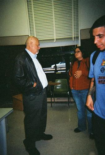 Alfred Arteaga in class, UC Berkeley