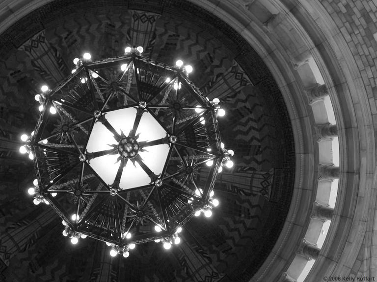Chandelier and Dome in Nebraska State Capitol