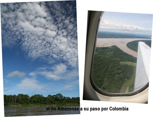 Río Amazonas a su paso por Colombia