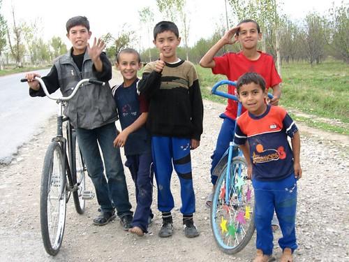 More local bikers - Penjikent, Tajikistan