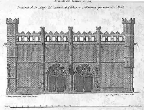 Lonja: fachada Norte