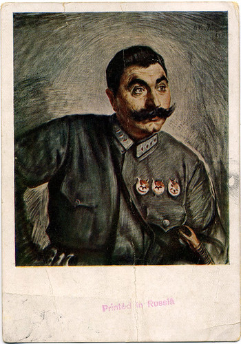 Postcard:  S. Boudienny portrait