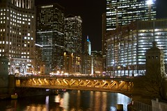 Michigan Avenue Bridge in Orange