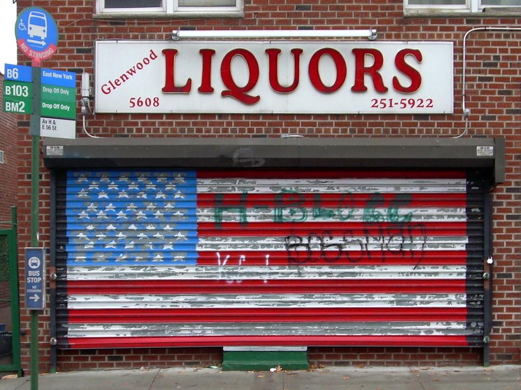 liquor store, flatlands
