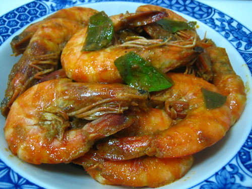 Tom Yam Prawns + Recipe
