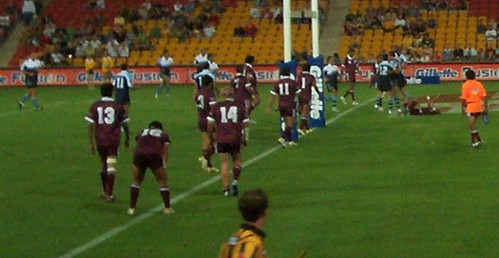 Curtain raiser game - Queensland Murri v NSW Koori U16 - Kangaroos v British Lions Rugby League Test Match - Lang Park (Suncorp Stadium), Brisbane, Australia, November 18th 2006