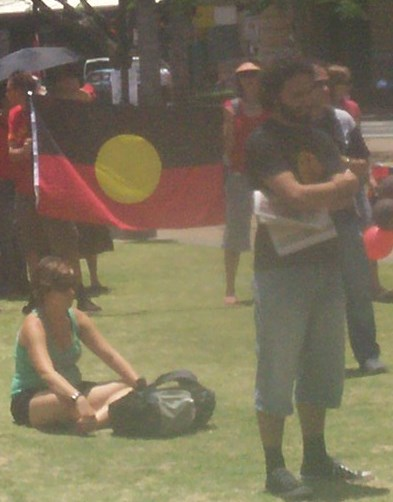 Listening2 - Justice for Mulrunji Rally at Queens Park and March through Brisbane City, Australia, November 18 2006