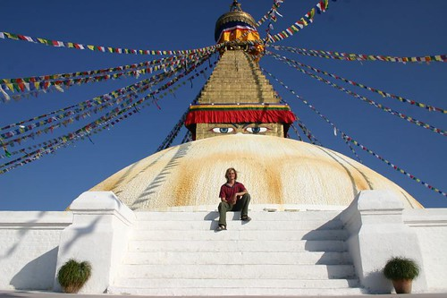 The Bodhnath Stupa - one of the most important religious sites in the Hindu world. Kathmandu, Nepal.