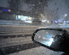 Driving home in the snow
