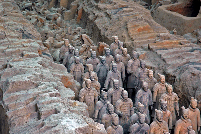 Emper Qin's Terra-cotta warriors and horses