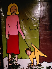Promenade du chien Lola