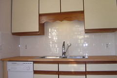 Backsplash and counter