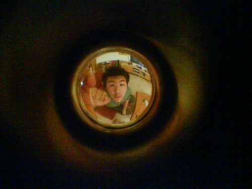 Jon through the peep hole