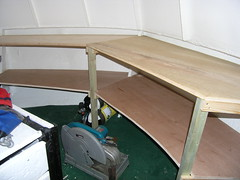 Steering room shelving
