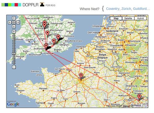 Dopplr - my trips