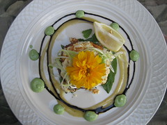 Elegant dishes at Duck Soup Inn, San Juan Island, Washington State