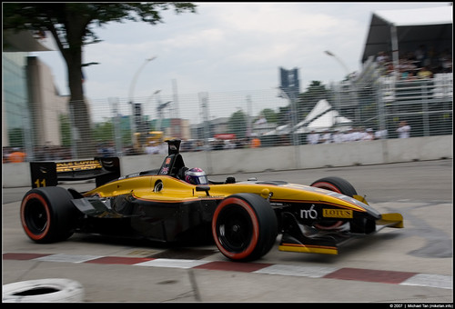 Champ Car race - Katherine Legge (by Tanner.)