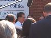 Gov. Mitt Romney Talks With The Media