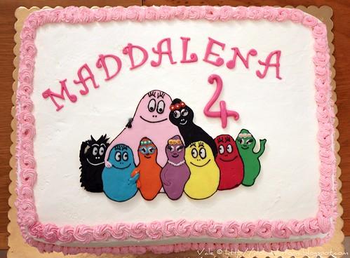 Torta famiglia Barbapapà 4 anni Maddalena