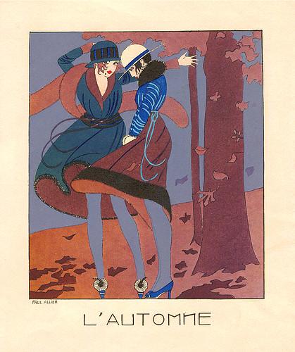 Paul Allier, Estampes Pour Votre Chambre magazine, L'Automne, 1925