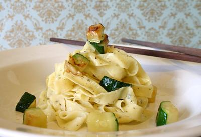 Sage Fettucine with Zucchini