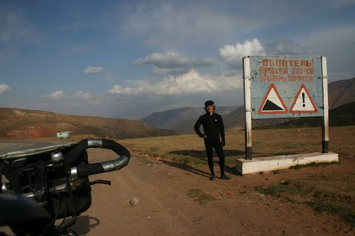 At the first pass after leaving Osh, 2408m...